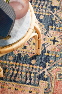 Artin Power Loomed Earth Round Rug