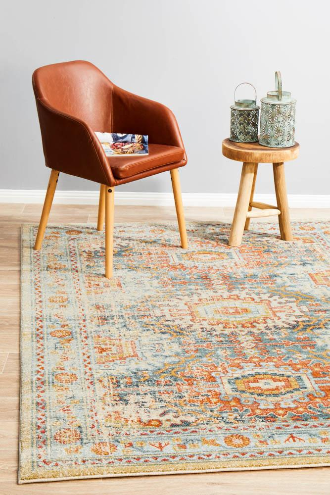 Artin Power Loomed Blue Rug