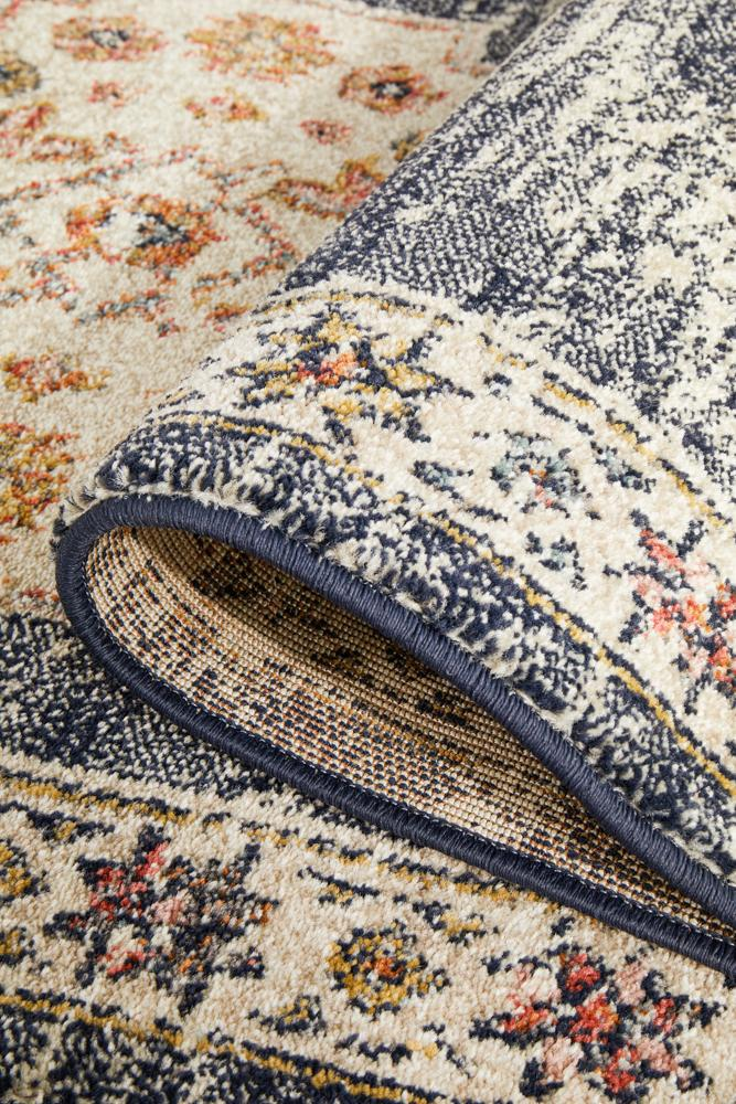 Artin Power Loomed Ecru Runner Rug