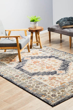 Artin Power Loomed Ecru Rug