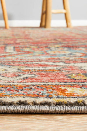 Artin Power Loomed Crimson Rug
