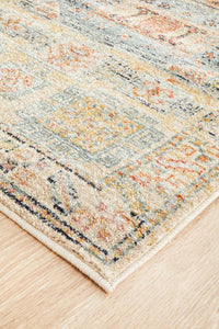 Artin Power Loomed Sky Blue Runner Rug