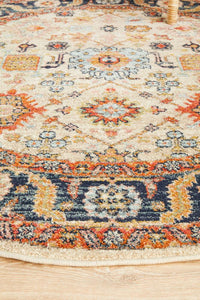 Artin Power Loomed Dune Round Rug