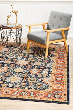 Artin Power Loomed Navy Rug