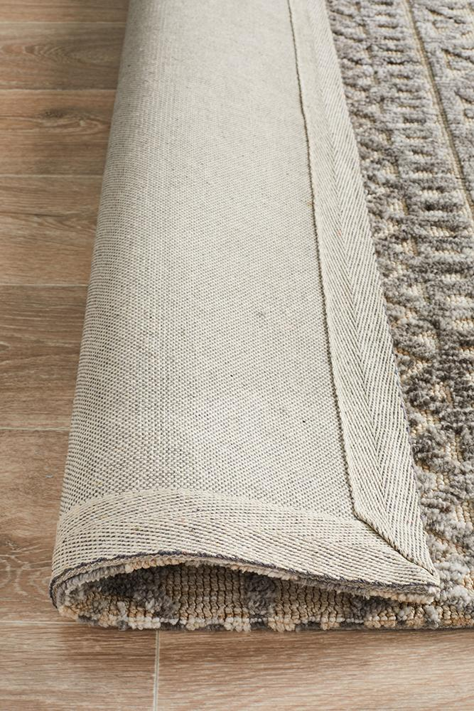 Luna  Jemma Natural Grey Rug