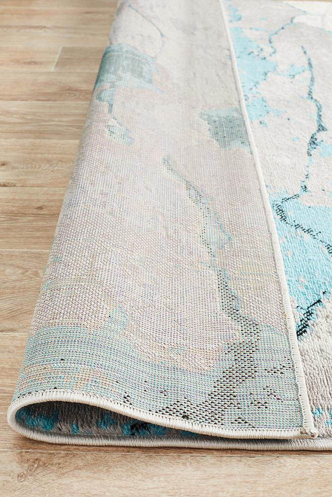 Zoey Contemporary Rug Blue Grey