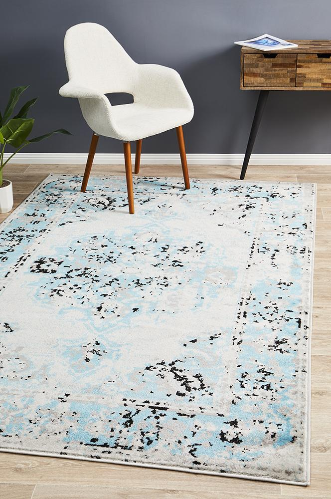 Alexa Transitional Rug Blue Grey