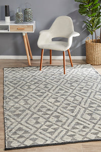 Amaya Hand-Loomed  Denim Rug