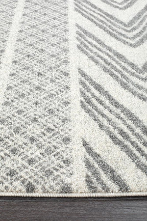 Susa Arash  Modern Tribal Design Grey Rug
