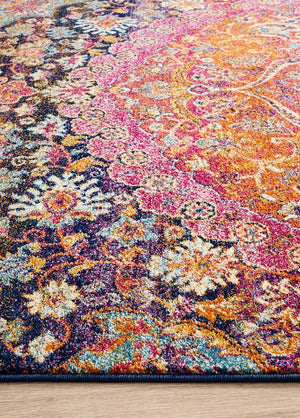 Boho Vintage Natalie Multi Coloured Rug