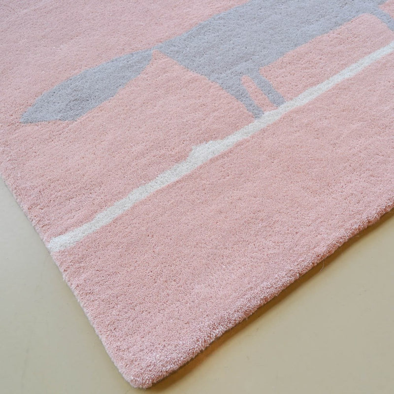 Scion Mr fox rugs 25302 in Blush Pink