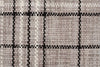 Striped Cotton Wool Flat woven Grey Rug