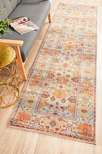 Helena Traditional Floral Multi Colour Modern Floor Rug Runner