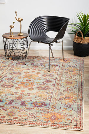 Helena Traditional Floral Multi Colour Modern Floor Rug