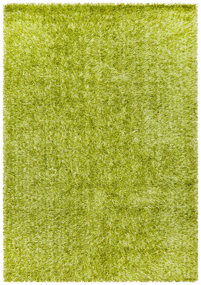 Metallic Thick, Thin Shag Rug lime green