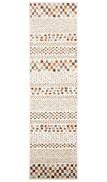 Mayfair Squares Bone Rug Runner