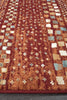 Mayfair Squares Rust Rug