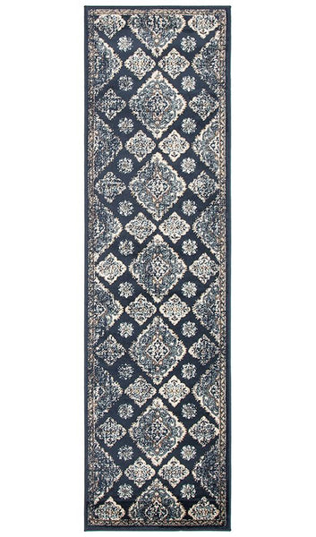 Mayfair Timeline Navy Rug
