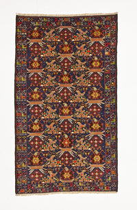 HAND KNOTTED AFGHAN FINE BALUCH RUG 187 X 108 CM