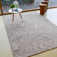Poppy rugs 28405 in taupe by william morris