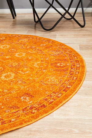 Aladdin Rugs NZ 444 Burnt Orange Round Rug
