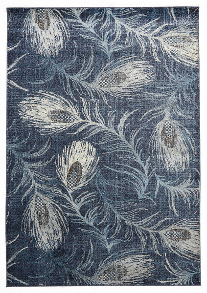 Ruby Collection 320 Navy Rug - aladdinrugs - 1