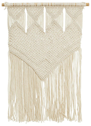 Aladdin Rugs NZ Home Natural Tribal Macrame Fringed Wall Hanging