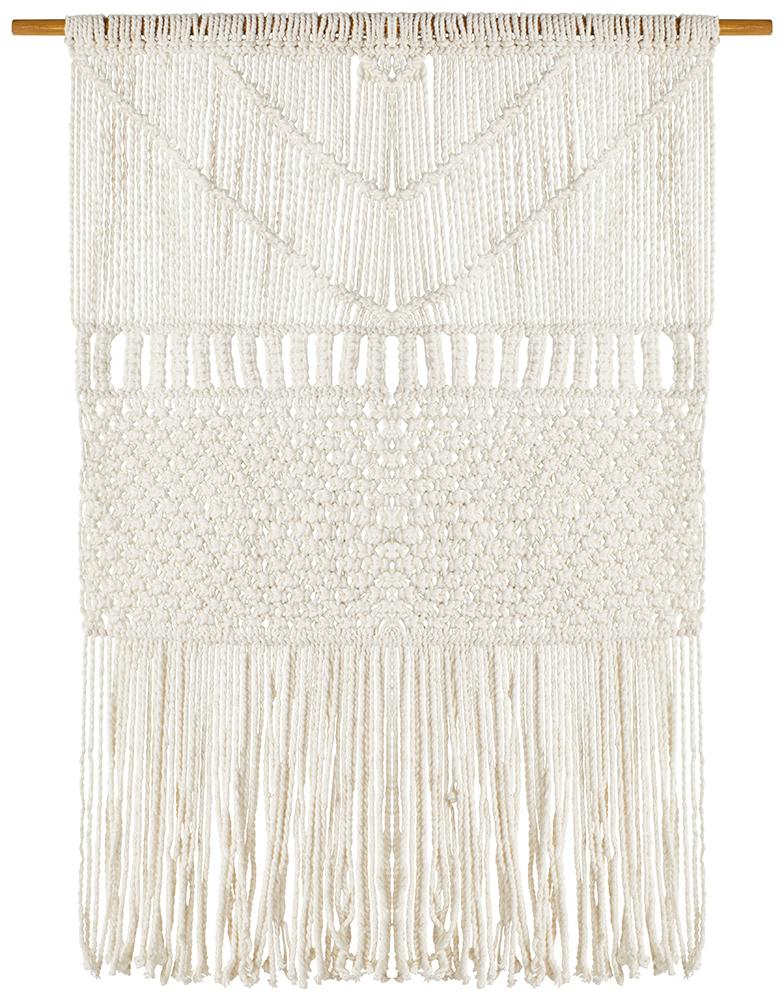 Aladdin Rugs NZ Home Coastal Macrame Fringed Wall Hanging