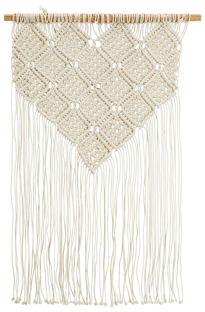 Aladdin Rugs NZ Home Bohemian Macrame Fringed Wall Hanging