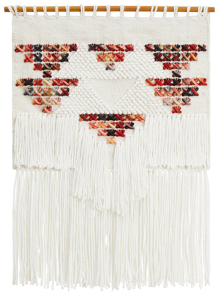 Aladdin Rugs NZ Home Multi Scandi Textured Fringed Wall Hanging