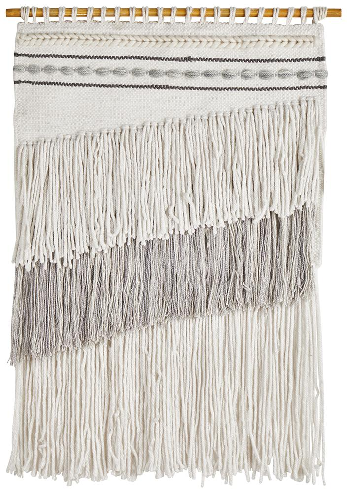 Aladdin Rugs NZ Home Loren Scandi Layered Fringed Wall Hanging