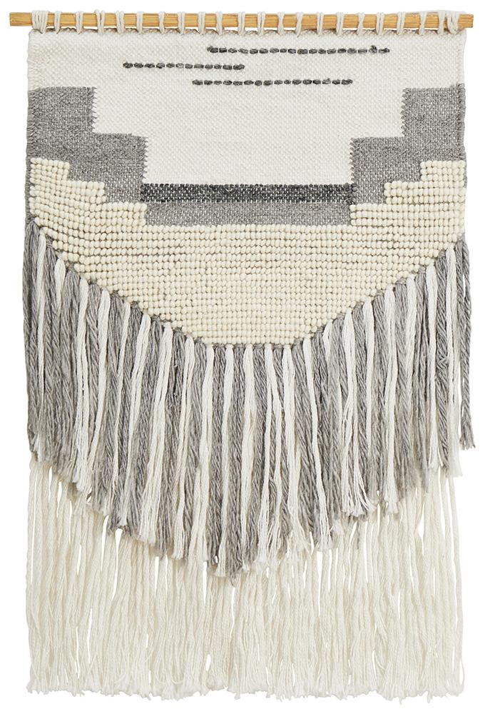 Aladdin Rugs NZ Home Gram Scandi Layered Fringed Wall Hanging