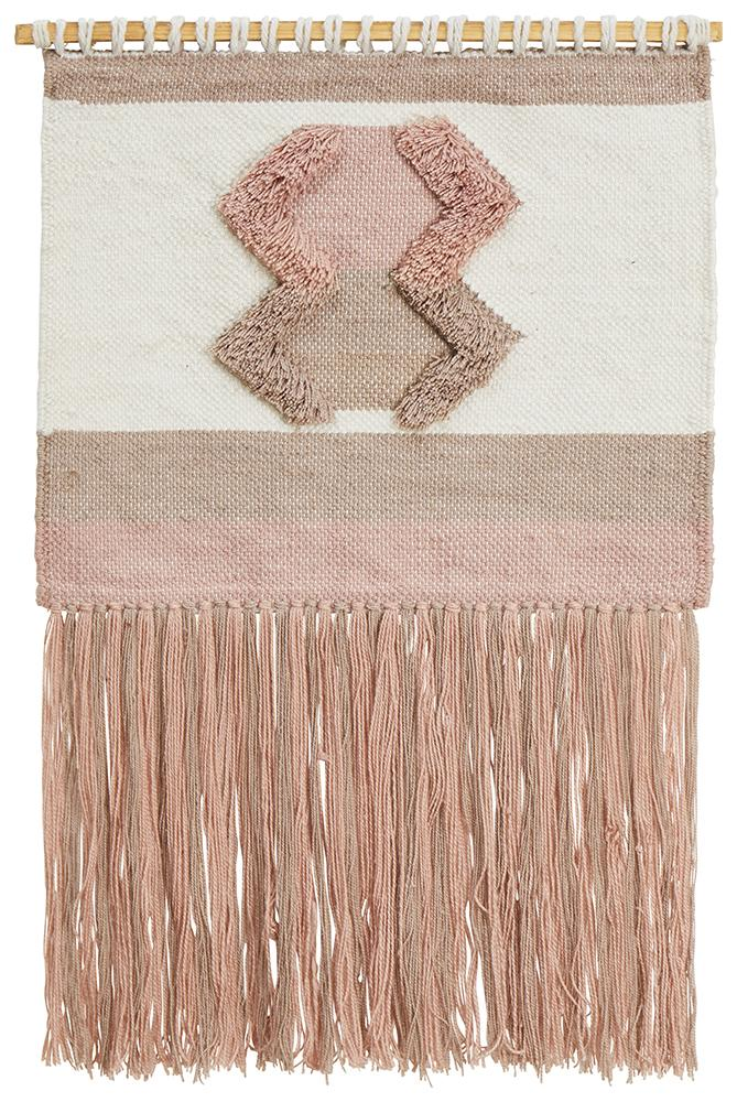 Aladdin Rugs NZ Home Salt Scandi Flatwoven Fringed Wall Hanging
