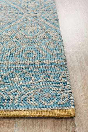 Relic Hunter Blue Grey Rug