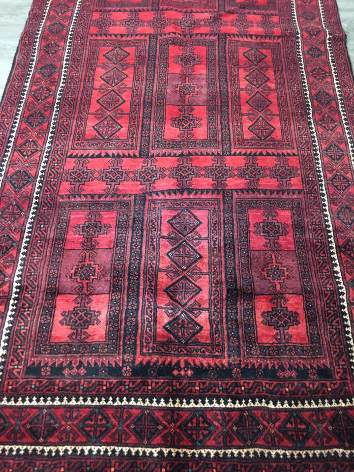 HAND KNOTTED PERSIAN RUG BALOUCH 212X110 CM