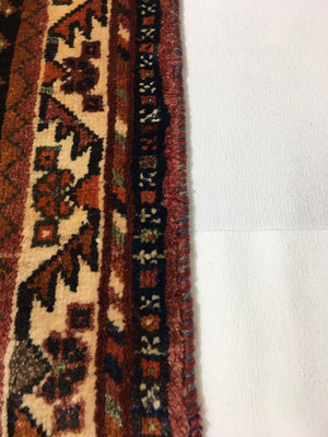 HAND KNOTTED PERSIAN SHIRAZ RUG 188X111 CM