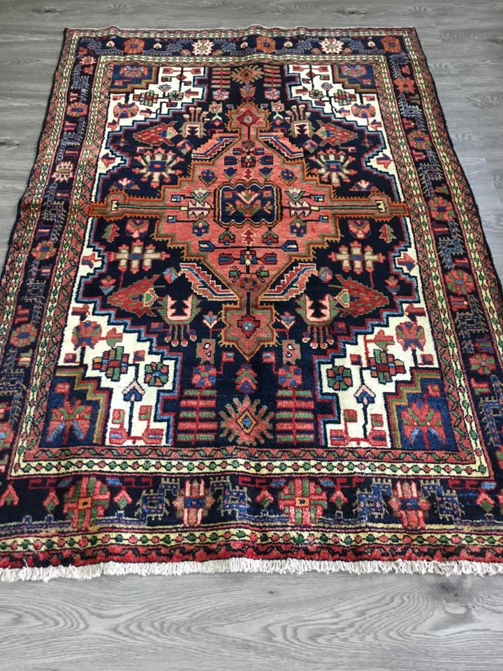 PERSIAN HAND KNOTTED NAHAVAND RUG 189 X129 CM