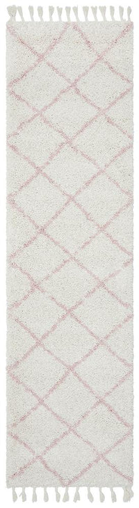 Bella Pink Fringed Rug