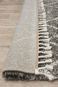 Laleh Grey Fringed Rug