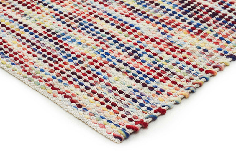 Hand Made  Felted Wool Rug Multi Natural