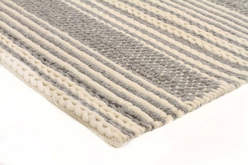 Alisha Hand Made Silver Felted Wool Rug