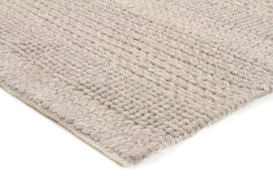 Hand Made Paras Grey Felted Wool Rug