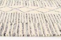 Alisha Hand Made Grey Wool Rug