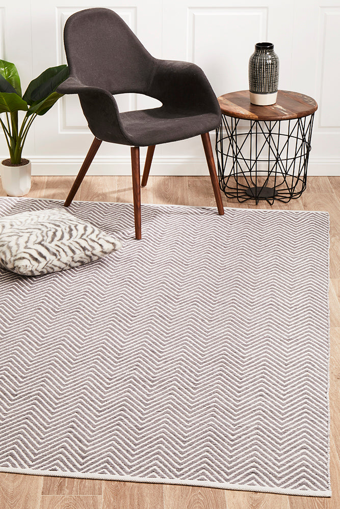 Spirit Chevron Grey Rug