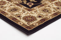 Sydney Classic Rug Black with Ivory Border - aladdinrugs - 2