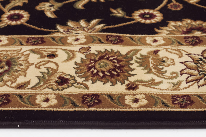 Sydney Classic Rug Black with Ivory Border - aladdinrugs - 3