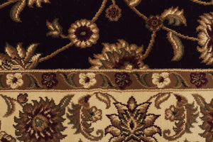 Sydney Classic Rug Black with Ivory Border - aladdinrugs - 4