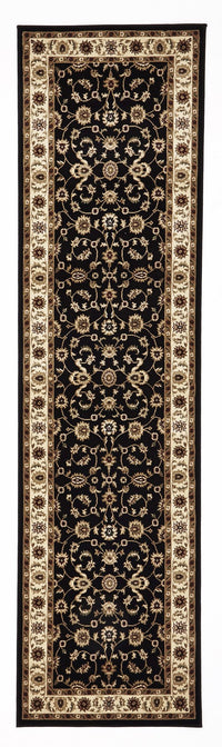 Sydney Classic Rug Black with Ivory Border - aladdinrugs - 6