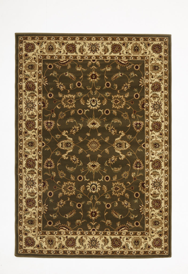 Sydney Classic Rug Green with Ivory Border - aladdinrugs - 1