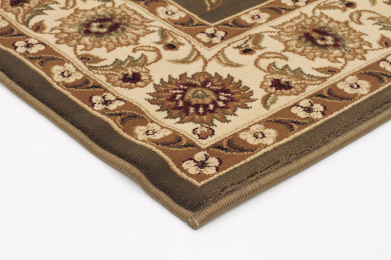 Sydney Classic Rug Green with Ivory Border - aladdinrugs - 2